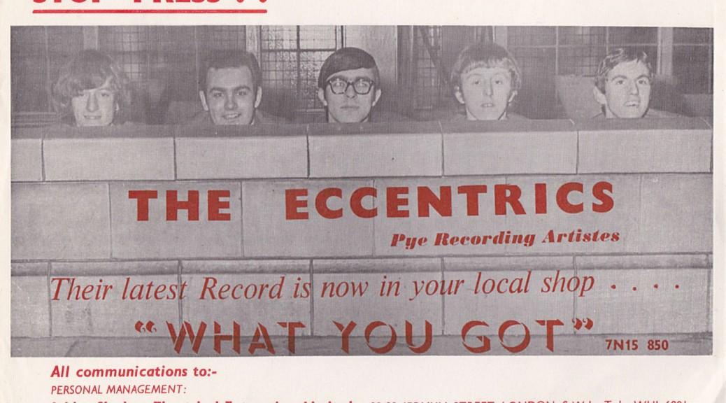 "Rockin' Eccentrics Pye promo for ""What You Got"""