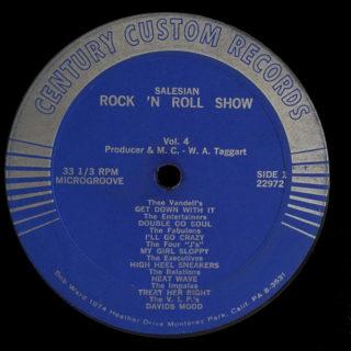 Salesian Rock 'n Roll Show Vol. 4 Century Custom LP Side 1
