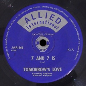 Tomorrow's Love Allied International 45 7 And 7 Is