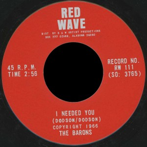 Barons Red Wave 45 I Needed You