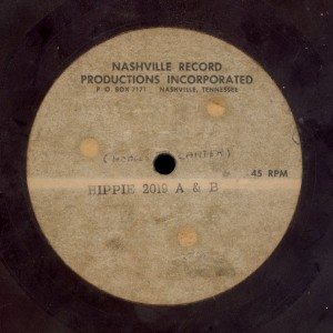 IV Pak - Nashville Record Productions Acetate for Hippie 2019 (detail)