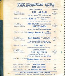Carl Douglas & the Big Stampede, the Ram Jam Club, June 17 1967