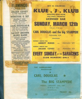 Carl Douglas & the Big Stampede gigs, January - March, 1967