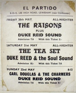 Carl Douglas, TeaSet, Duke Reid at El Partido Lewisham