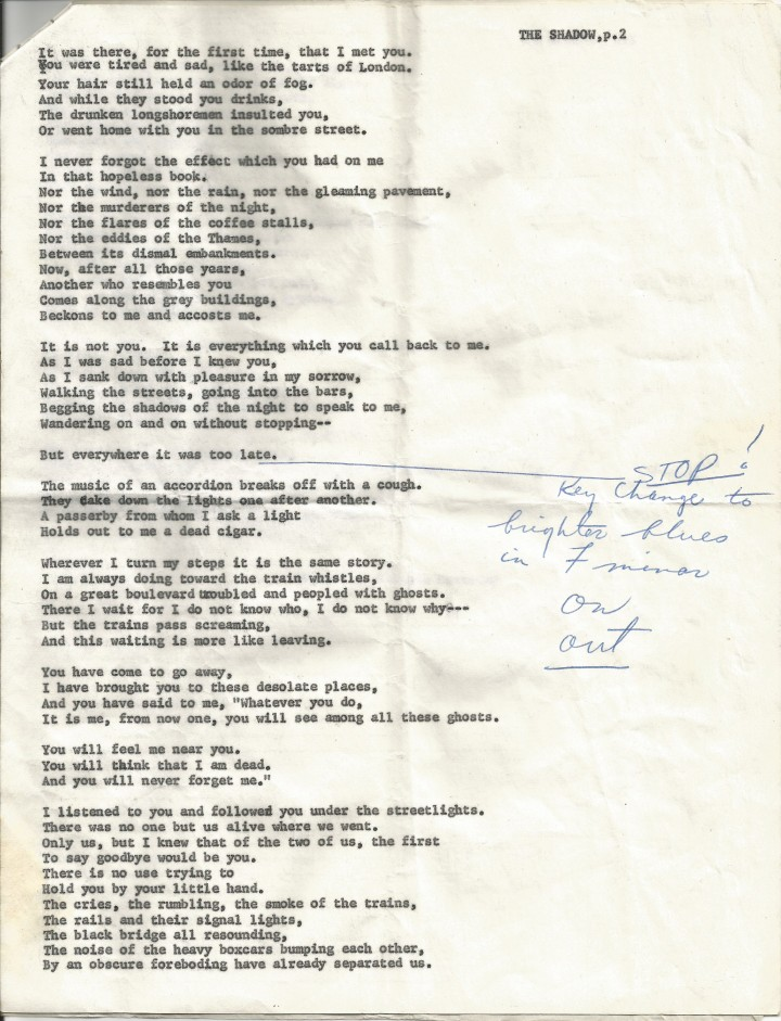 Francis Carco - The Shadow page 2, Kenneth Rexroth at the Black Hawk