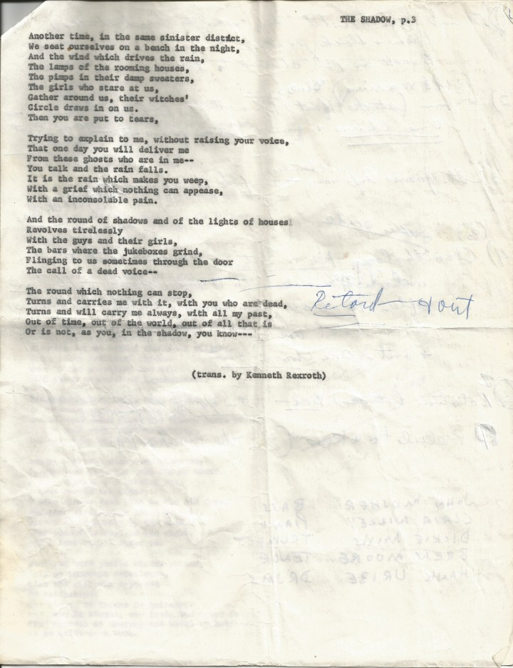 Francis Carco - The Shadow page 3, Kenneth Rexroth at the Black Hawk