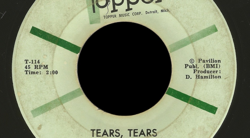 Decisions Topper 45 Tears, Tears
