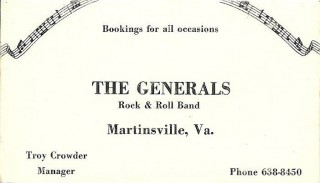 The Generals Business Card