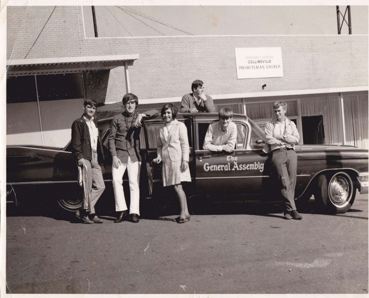 The Generals next to their Cadillac limo, 1968