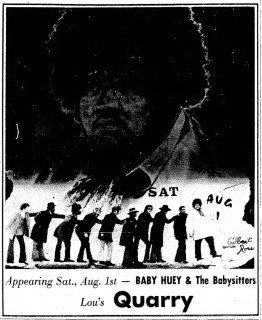 Baby Huey & the Babysitters at Lou's Quarry, Appleton Post-Crescent July 31 1970