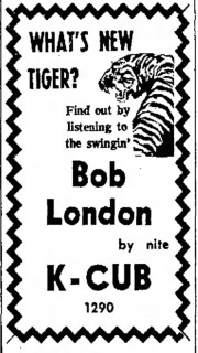 Bob London, DJ with K-CUB, Tucson Daily Citizen, Dec. 14, 1965
