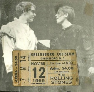 RollingStonesTicketNov12_1965GreensboroColiseum