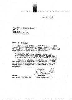 Gene Rumley BMI letter