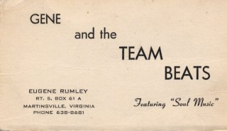 Gene & the Team Beats Business Card