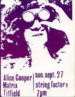 Alice Cooper Matrix Titfield String Factory Richmond 1970