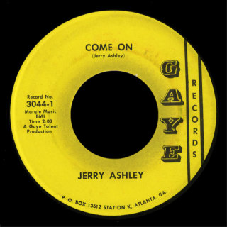 Jerry Ashley Gaye 45 Come On
