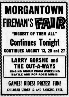 Larry Gorshe & the Cut-a-Ways, the Pottstown Mercury, August 6, 1966