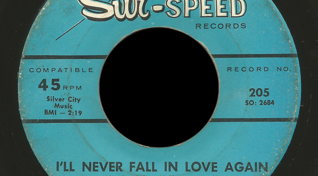 The Cutaways Sur Speed 45 I'll Never Fall in Love Again