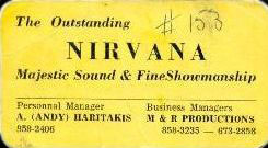 Nirvana band (Sudbury) Business Card
