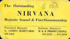 Nirvana band (Sudbury) Business Card