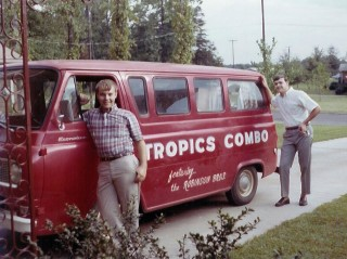 Tropics Combo van with Ken Adkins and Leonard Collins