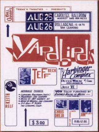 Just VI Harbinger Complex Yardbirds Carousel Ballroom Rollarena