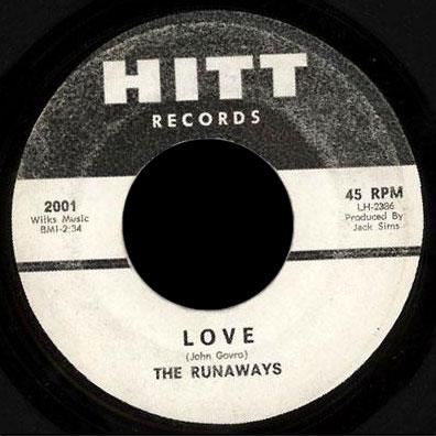 The Runaways Hitt 45 Love