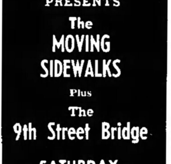 The 9th Street Bridge and the Moving Sidewalks at the Safari in Baytown, March 15, 1969