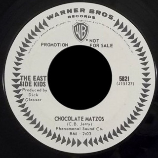 East Side Kids Warner Bros 45 Chocolate Matzos