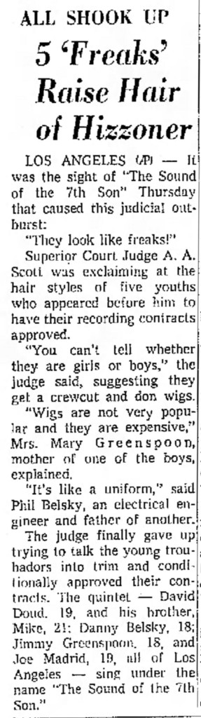Sound of the Seventh Son, the Independant, September 3, 1965