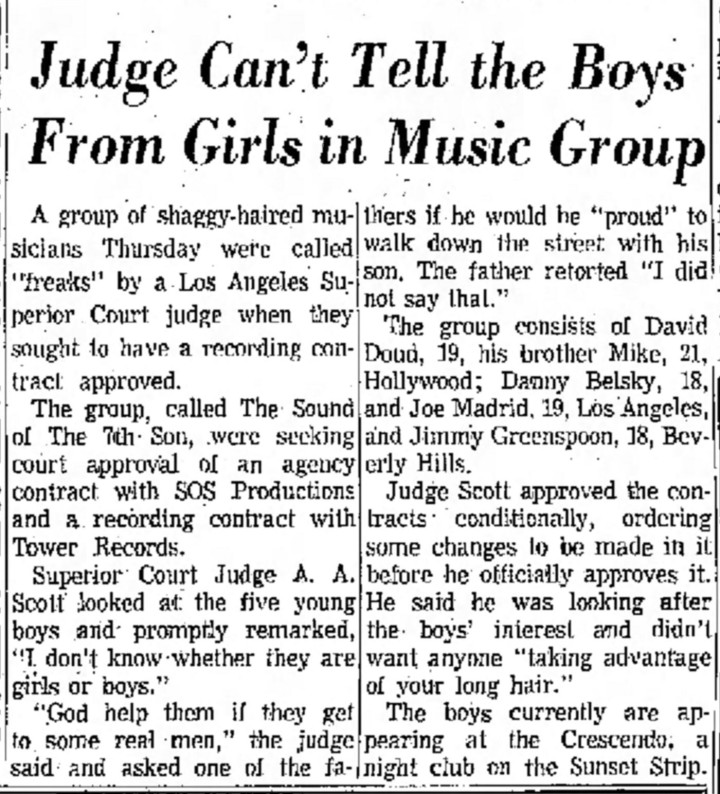 Sound of the Seventh Son Pasadena Independent, September 3, 1965