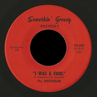 The Specktrum Somethin' Groovy 45 I Was A Fool
