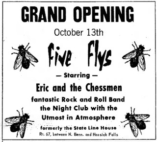 Eric and the Chessmen Five Flys Club, Bennington, October 1966