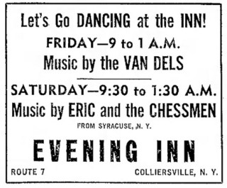 Eric and the Chessmen at the Evening Inn, Colliersville, June, 1965