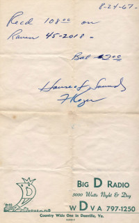The Individuals receipt signed by Frank Koger
