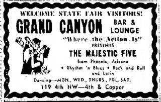 The Majestic Five in Albuquerque, September 1965