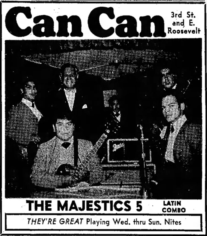 The Majestic 5 at the Can Can, June 1965