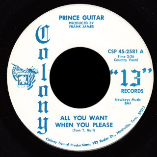 Prince Guitar Colony 13 45 All You Want When You Please