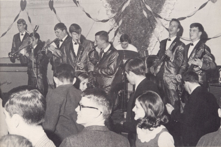 Soulmasters at the Sweetheart Dance at Stratford College in Danville, Va., 1967