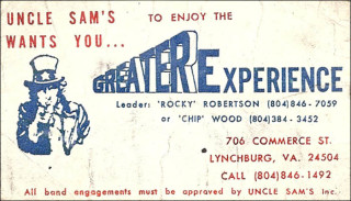 Greater Experience card for Uncle Sam's