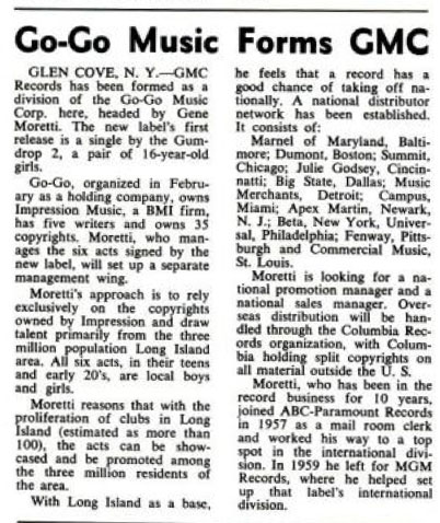 Buffaloes GMC Billboard April 2, 1966