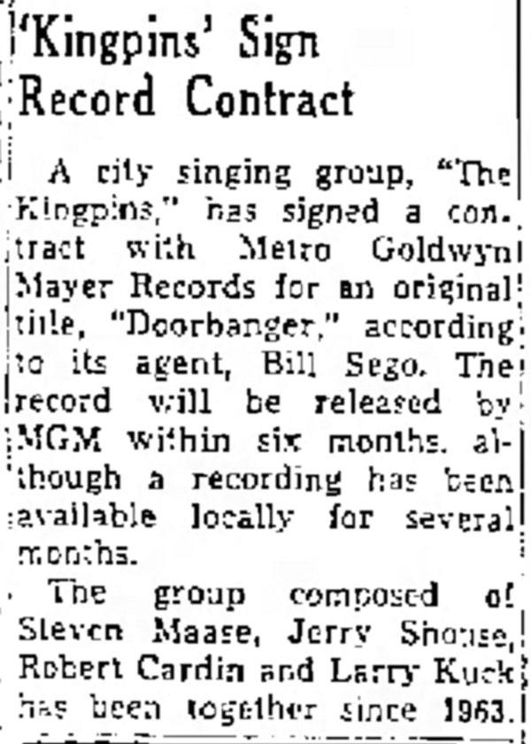 King Pins Albuquerque Journal  Nov 23, 1965
