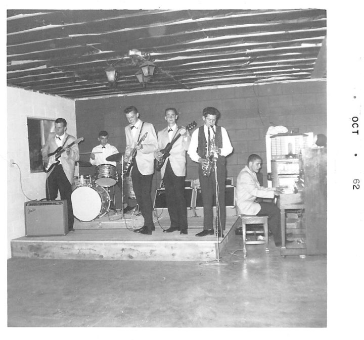 Early lineup of the King Pins, 1962. Photo courtesy of Lily Maase.