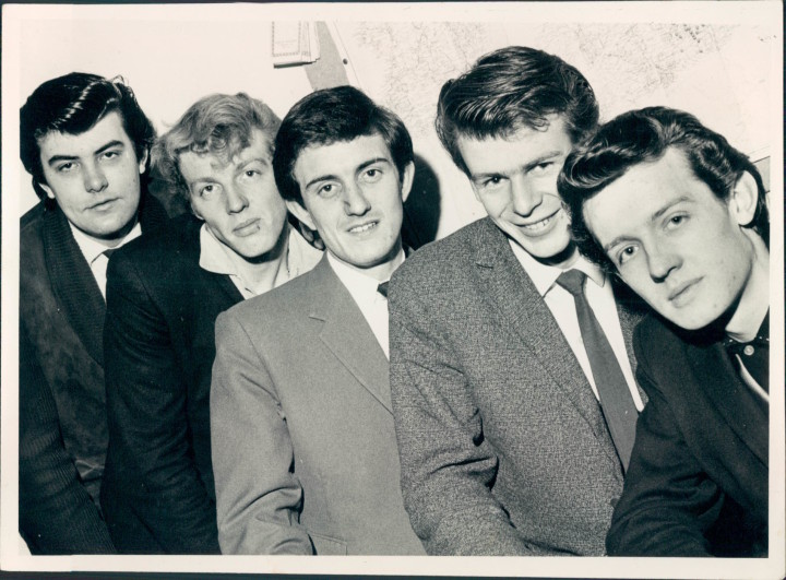 London Beats, early 1964, left to right: Mick Tucker, Tony Terry, Frank Bennett, Jimmy Smith, Simon Coaffee