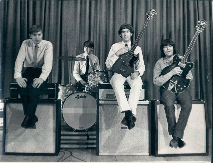 The London Beats in Poland, 1965. Left to right: John Carroll, Jimmy Smith, Peter Carney and Mick Tucker