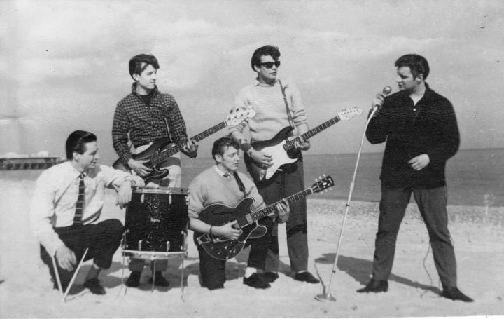 Moonriders, left to right: Mick Godfrey, Simon Coaffee, Tony Terry, Mick Tucker and Terry Jones