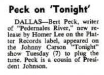 Burt Peck, Homer Lee, Platter Records Billboard, June 18, 1966