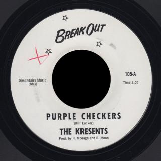 Kresents Break Out 45 Purple Checkers