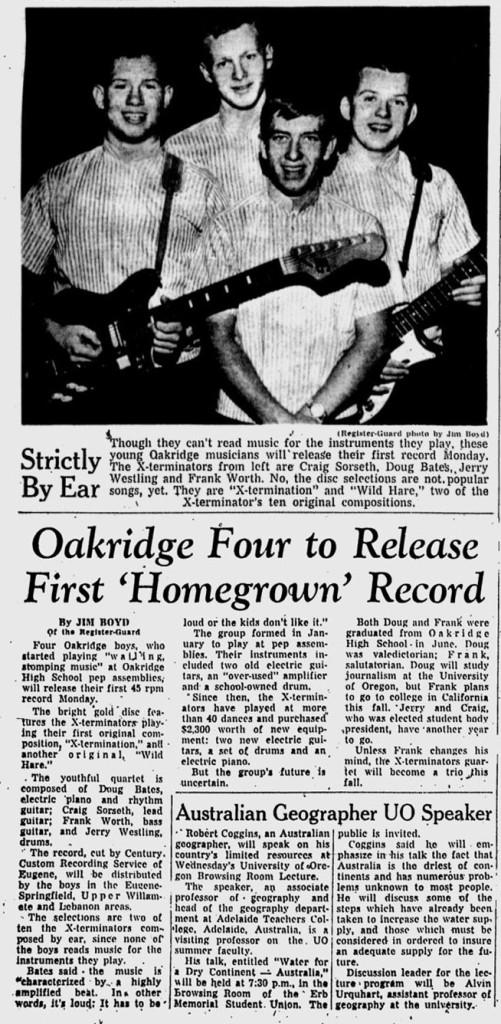 X-Terminators Eugene Register Guard July 26, 1964