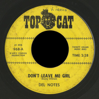 Del Notes Top Cat 45 Don't Leave Me Girl